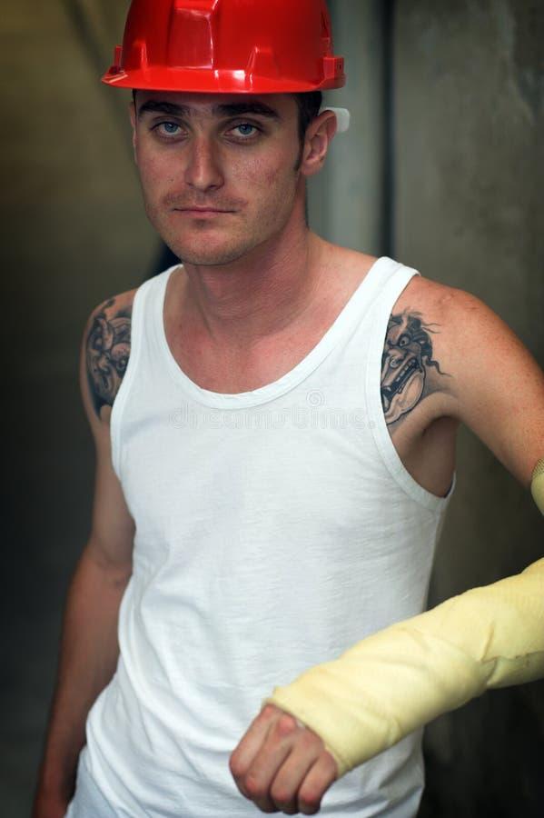 tatuerad manmurbruk royaltyfri bild