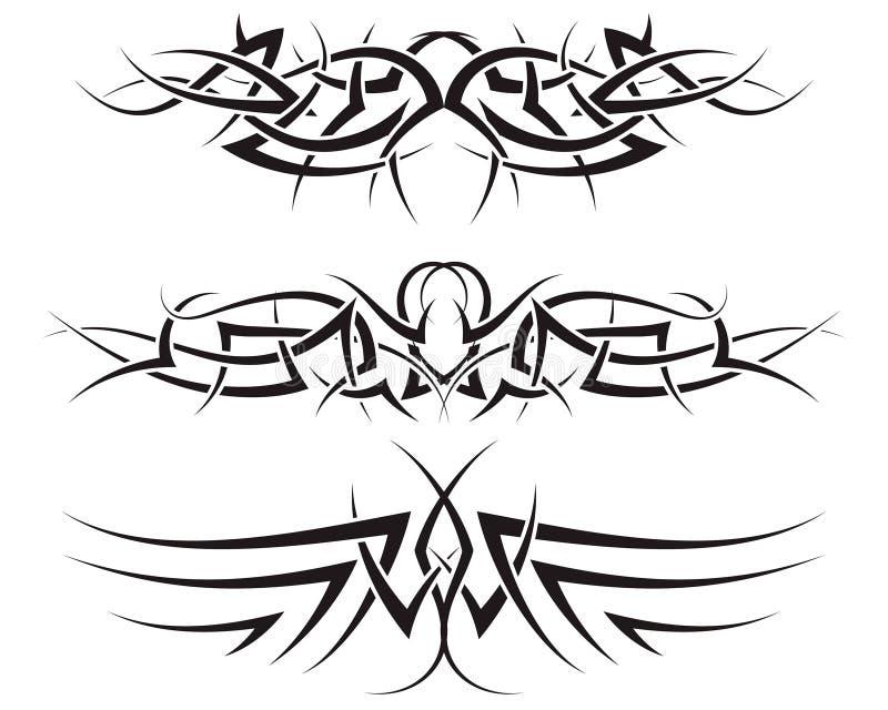 tatuerar stam- stock illustrationer