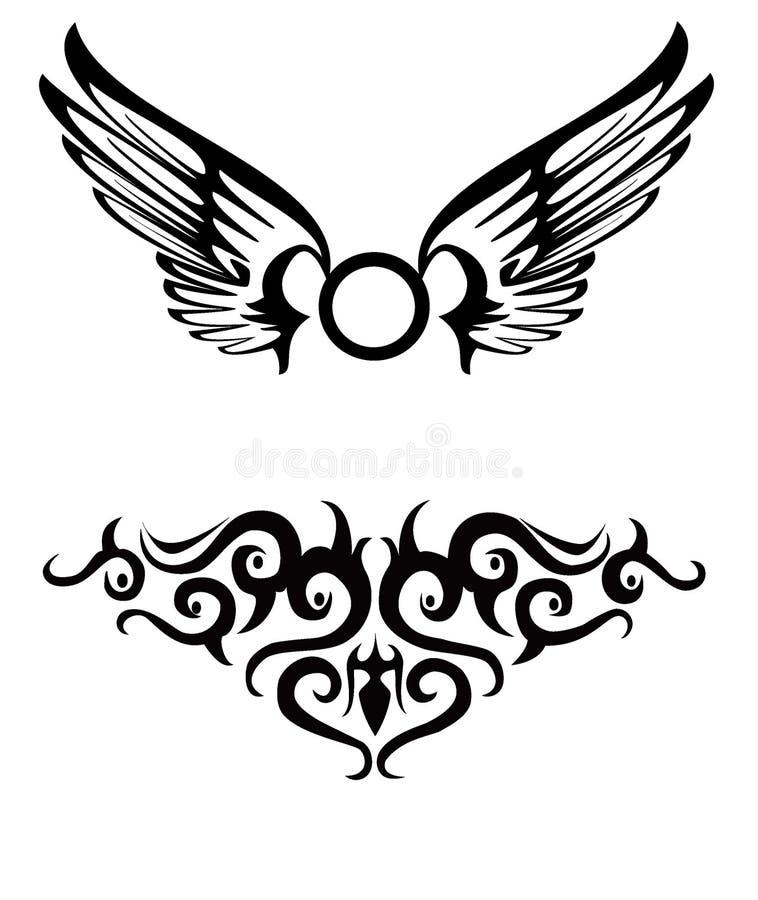tatuerar stam- vektor illustrationer