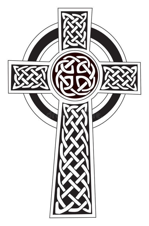 tatuering för symbol för celtic kors för illustration royaltyfri illustrationer