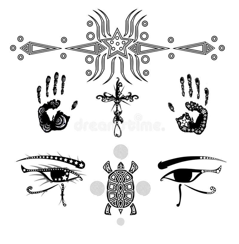 tatueringar vektor illustrationer