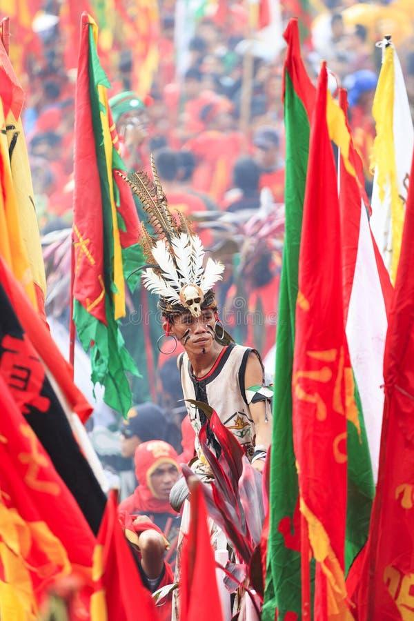 Tatung Singkawang lub szaman fotografia royalty free