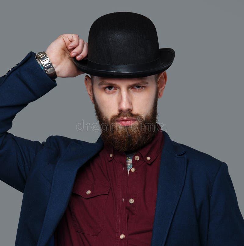 Tatuująca samiec w błękitnym kostiumu zdjęcie royalty free