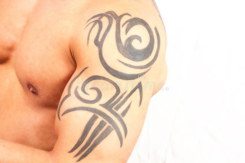 Tatuujący mężczyzna zdjęcie stock