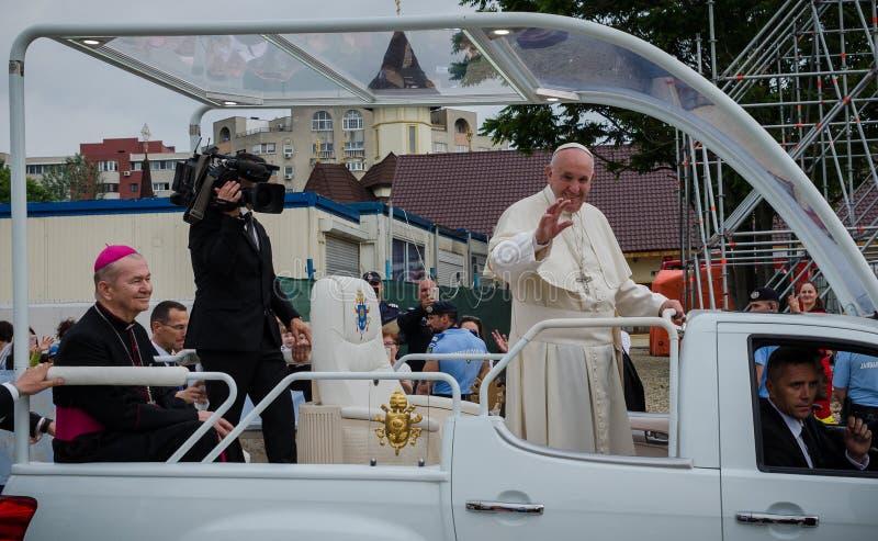 Taty Francisc wizyta Rumunia zdjęcie royalty free