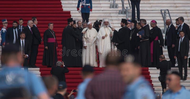 Taty Francisc wizyta Rumunia obraz royalty free