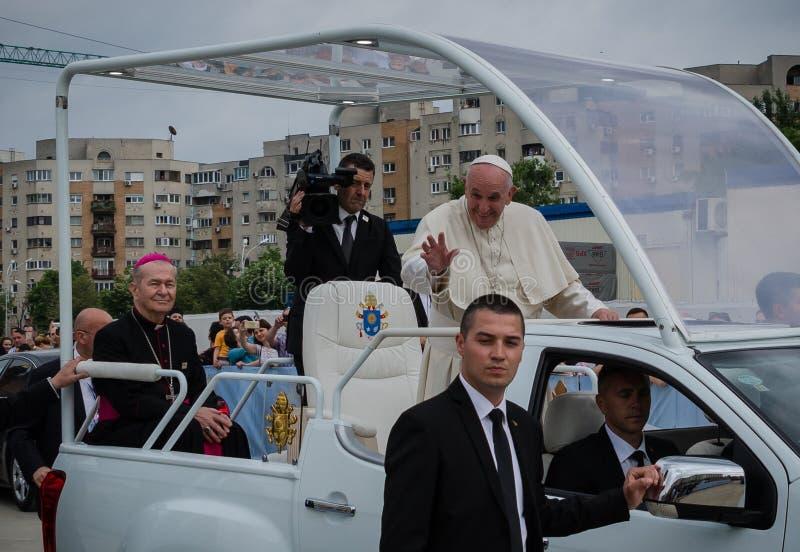 Taty Francisc wizyta Rumunia obraz stock