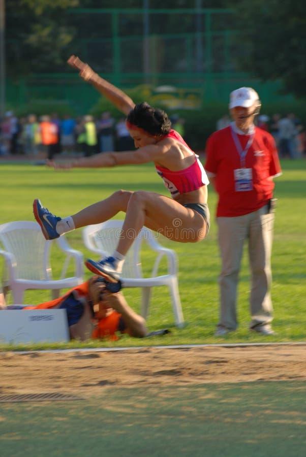 Tatyana Lebedeva long jump stock photo