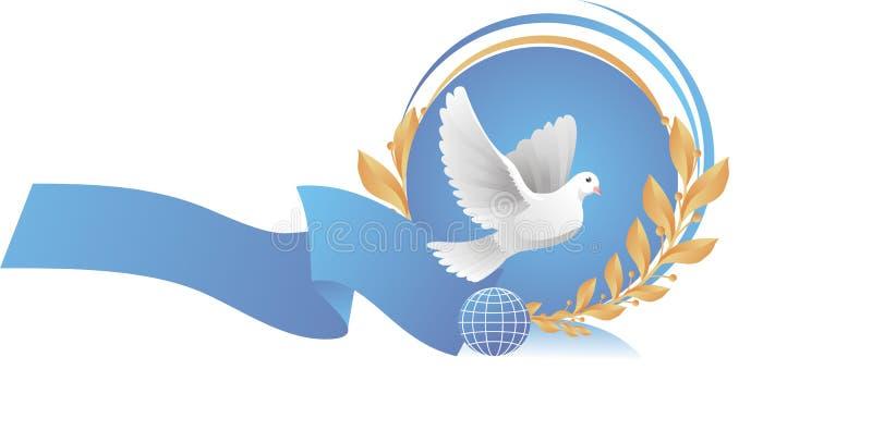 Taube des Friedens stockbild