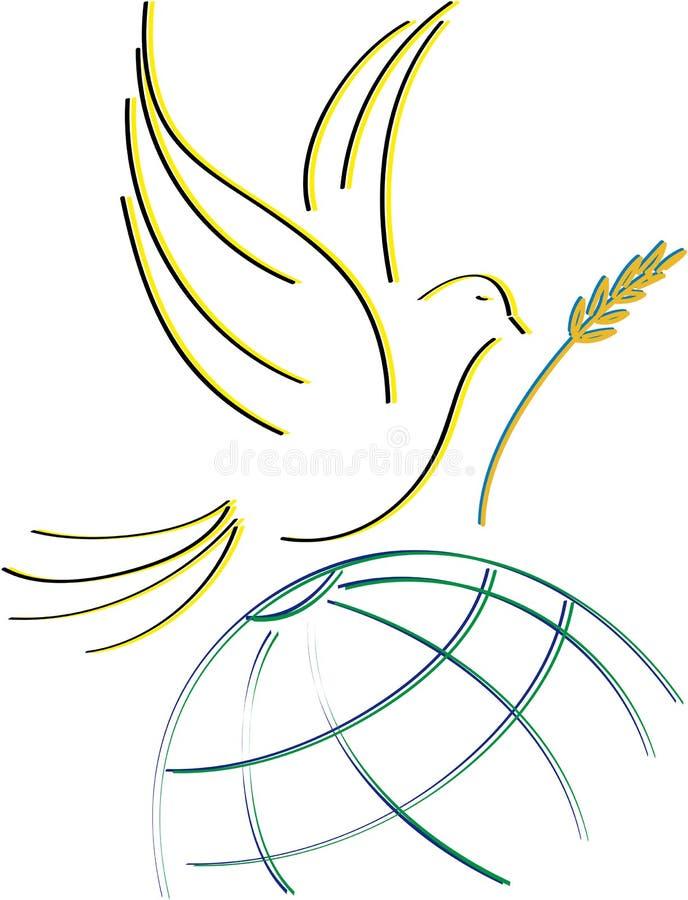 Taube des Friedens lizenzfreie stockbilder