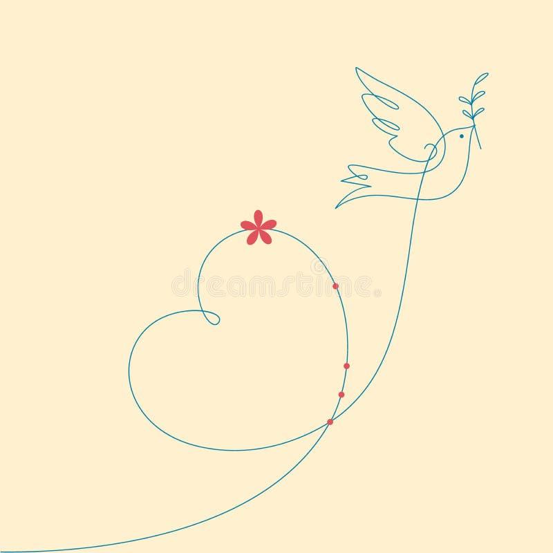 Taube des Friedens stockbilder