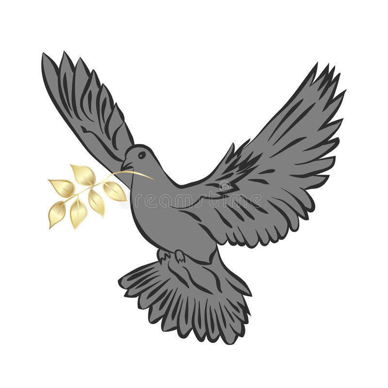 Taube des Friedens lizenzfreie abbildung
