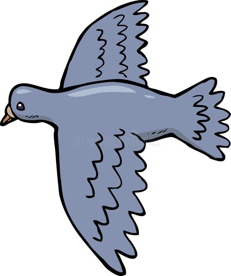 Taube im Flug lizenzfreie abbildung