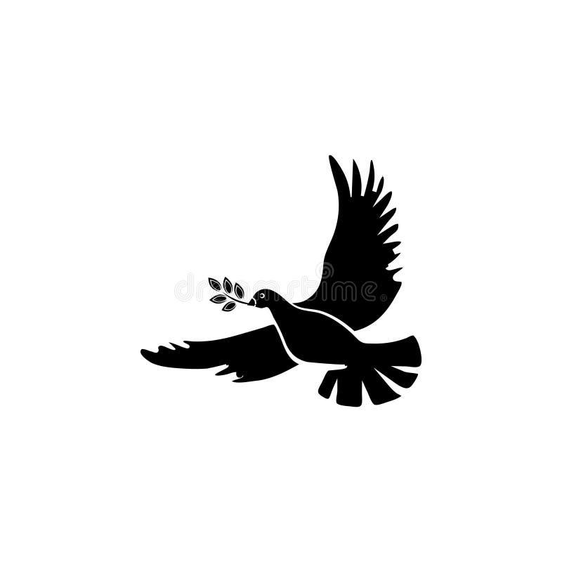Taube mit einem Ölzweig lizenzfreie abbildung
