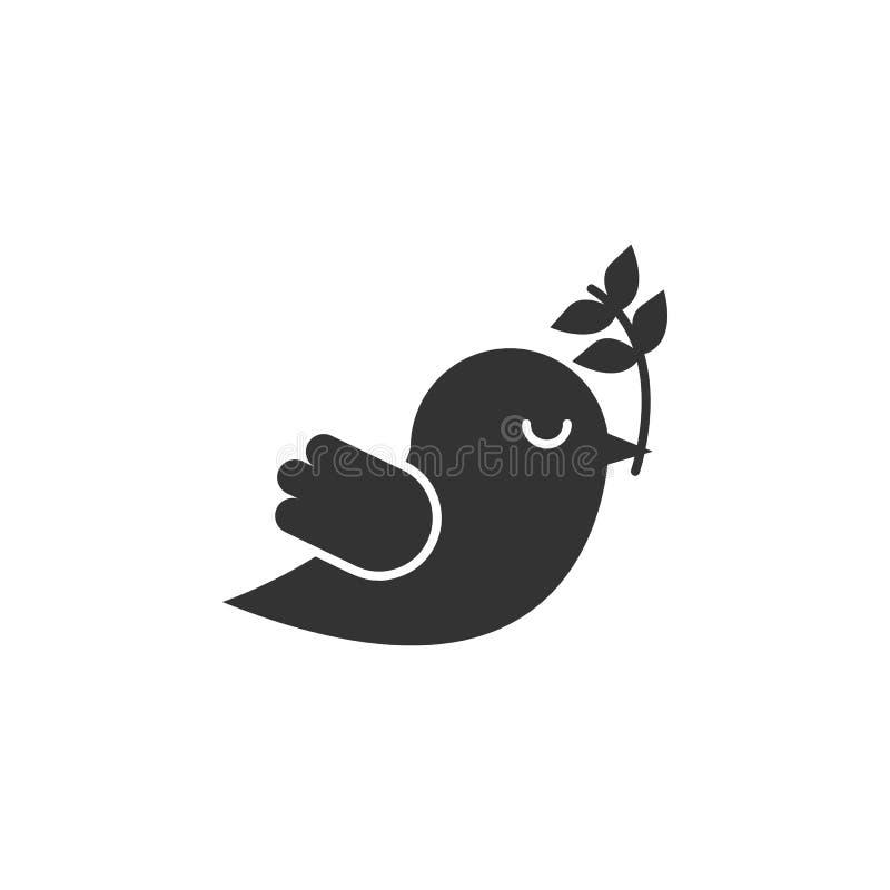 Taube, Vogelikone kann für Netz, Logo, mobiler App, UI, UX benutzt werden lizenzfreie abbildung