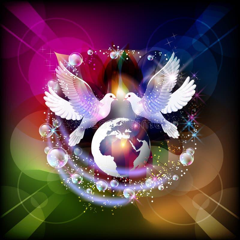 Tauben des Friedens lizenzfreie abbildung
