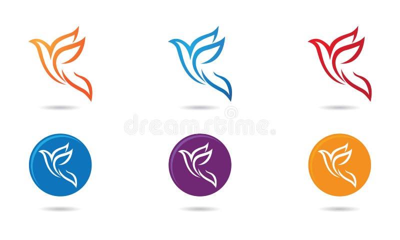 Tauben-Vogel-Logo lizenzfreie abbildung