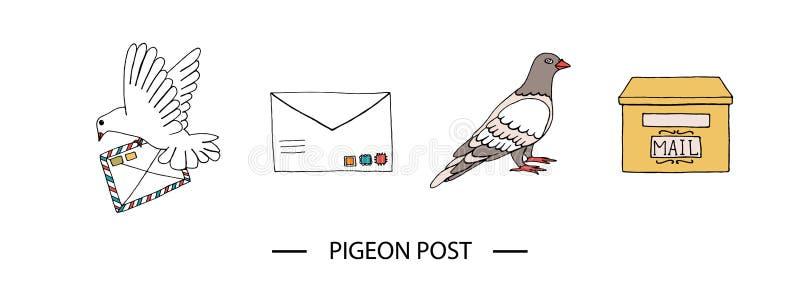 Taubenpostsatz stock abbildung