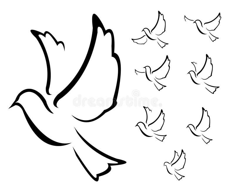 Taubensymbol Illustration stockfoto
