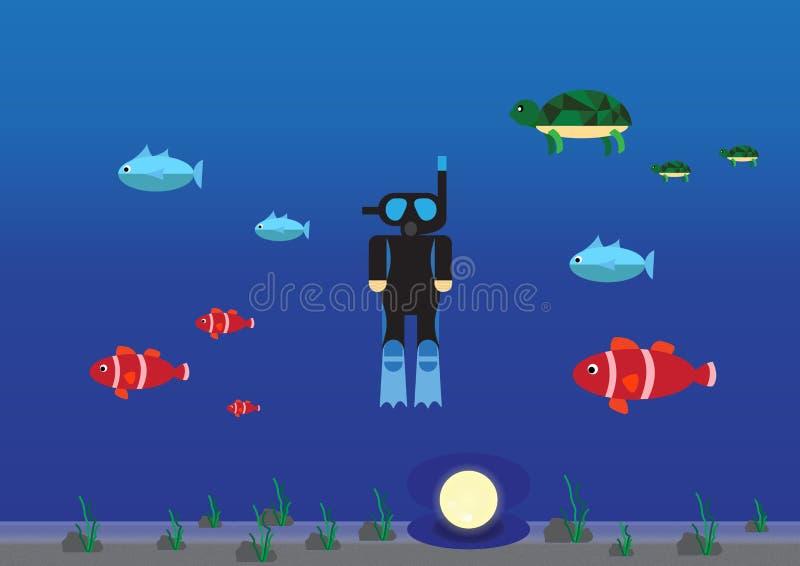 Tauchen im Meer lizenzfreies stockfoto