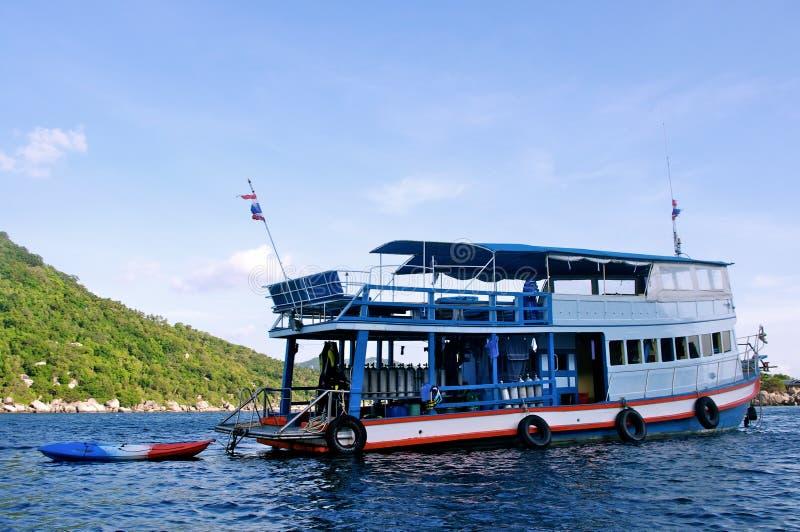 Tauchenboot bei Koh Tao, Thailand stockbild