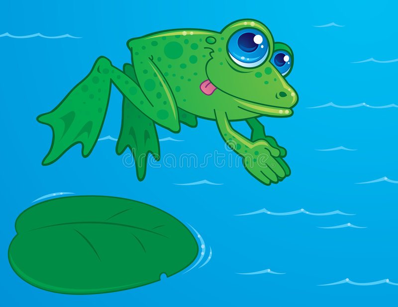 Tauchens-Frosch stock abbildung