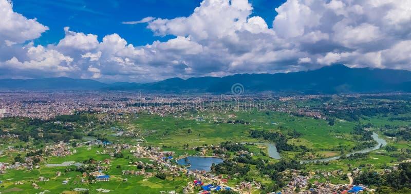 Taudaha Lake and Green Kathmandu Valley royalty free stock images
