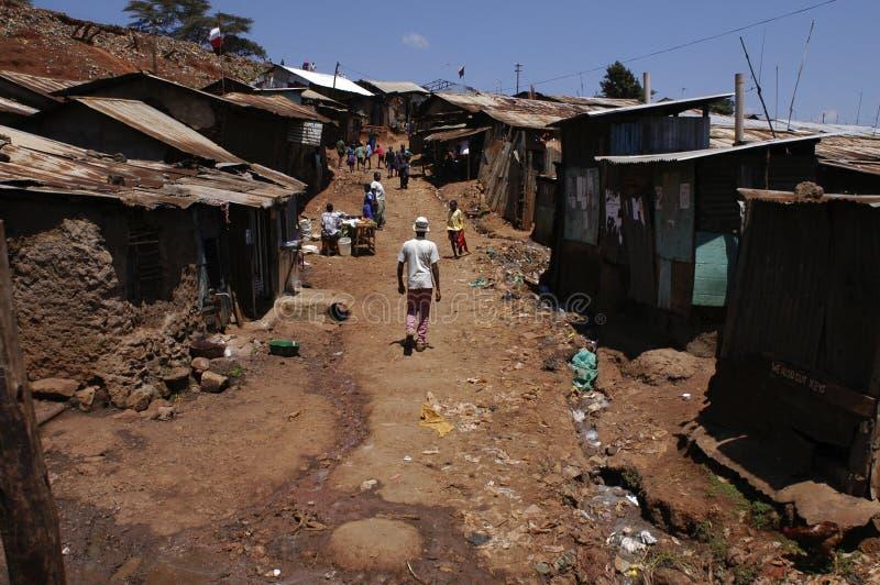 Taudis au Kenya images libres de droits