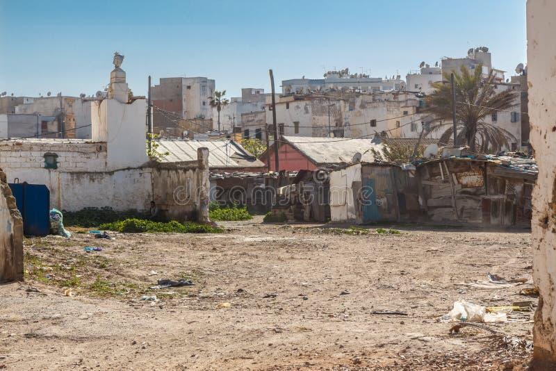 Taudis de centre-ville à Casablanca images libres de droits