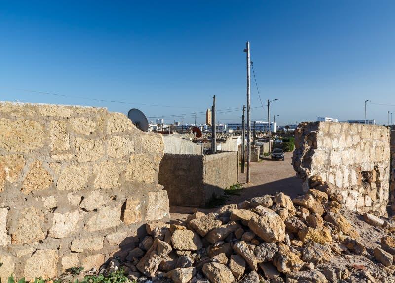 Taudis de centre-ville à Casablanca photo stock