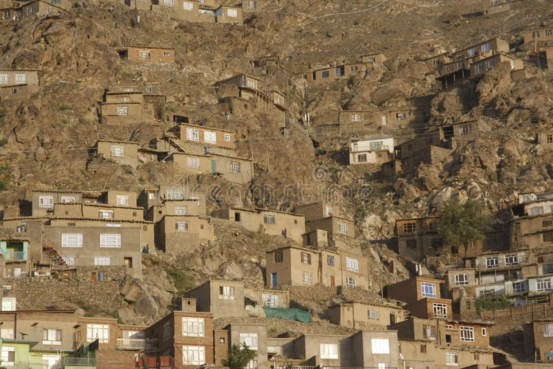 Taudis de Kaboul photographie stock libre de droits