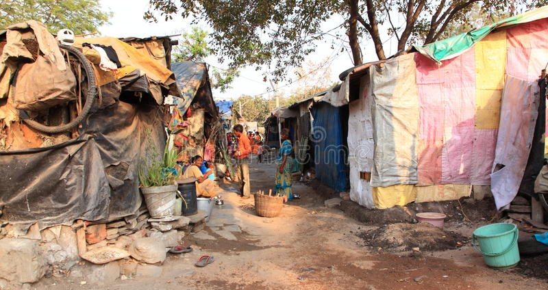 Taudis de l'Inde photo libre de droits