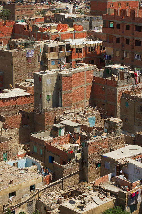Taudis du Caire images libres de droits