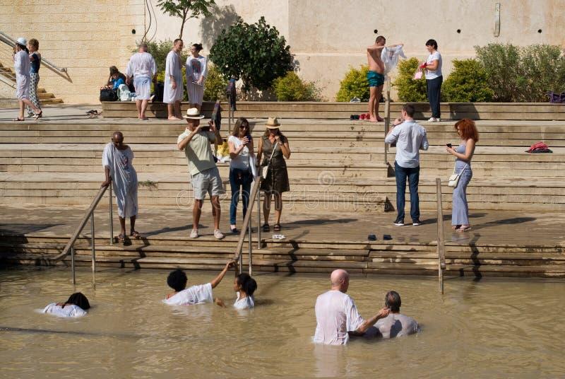 Tauf- Standort auf Jordan River, Qasr-Al-Yahud, Israel stockfotografie