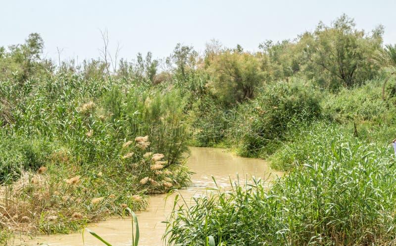 Tauf- Standort auf Jordan River in Qasr EL Yahud, Israel stockfotografie