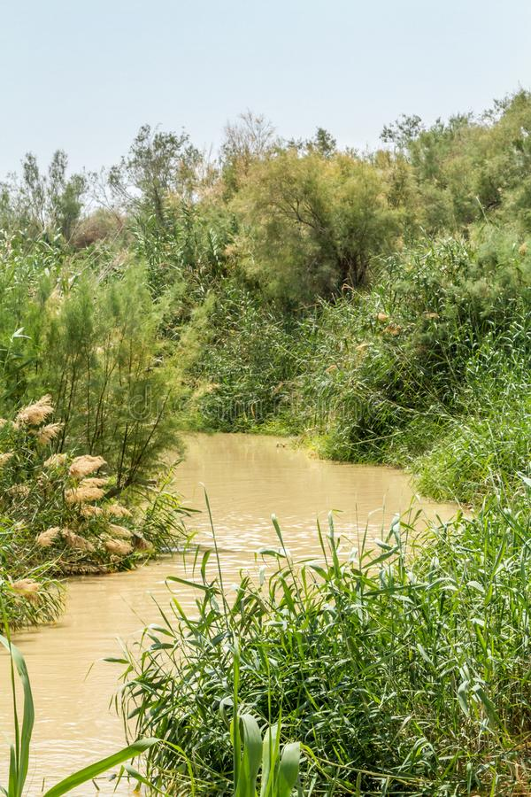 Tauf- Standort auf Jordan River in Qasr EL Yahud, Israel stockbilder