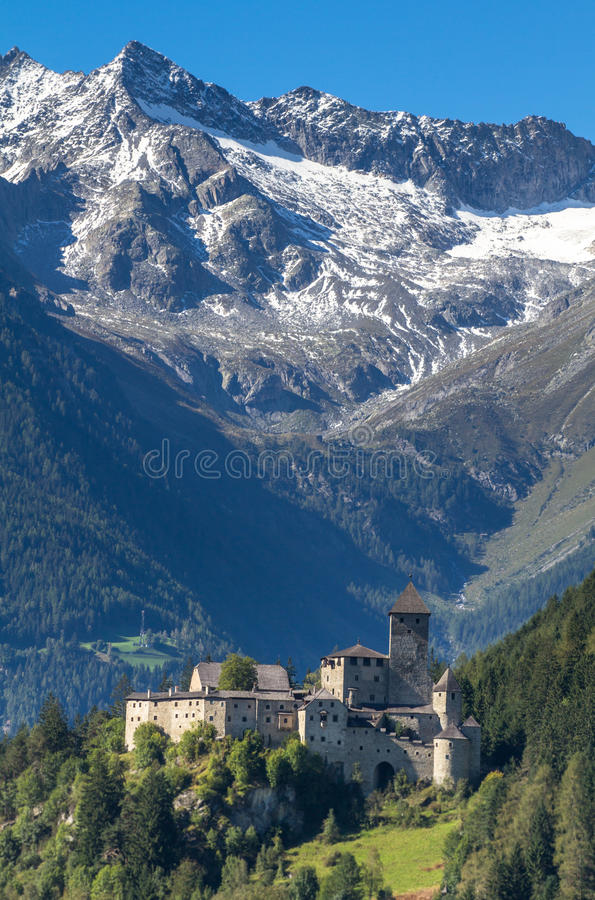 Taufers castle, Italy stock photography
