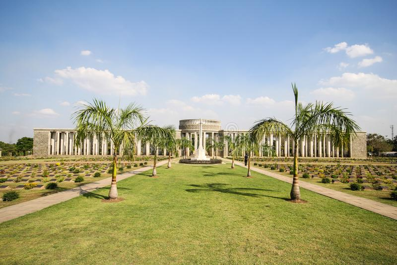 Taukkyan-Kriegs-Kirchhof in Rangun, Myanmar stockbild