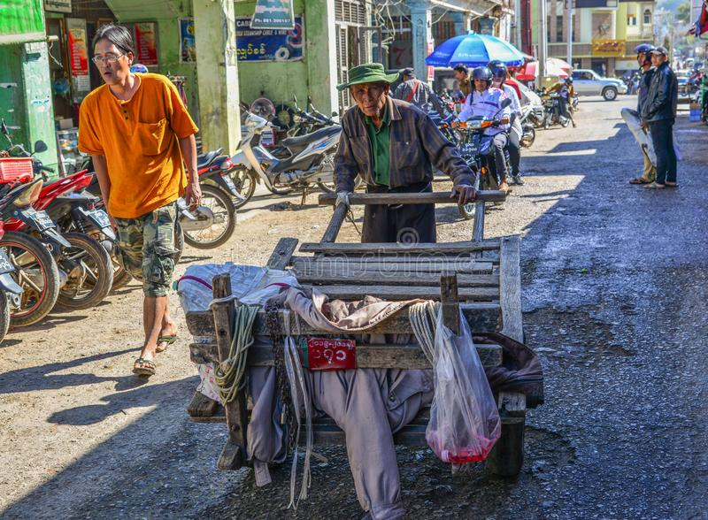 Vendor on street royalty free stock photos
