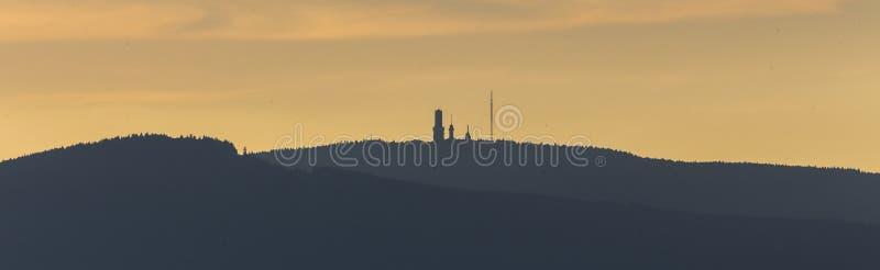 Taunus più lordo hesse Germania della montagna di Feldberg immagini stock