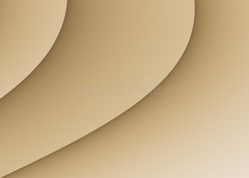 Taupe Beige Smooth Diagonal Curves Abstract Background Wallpaper Design royalty free illustration