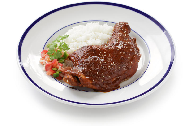 Taupe de poulet, cuisine mexicaine photo stock