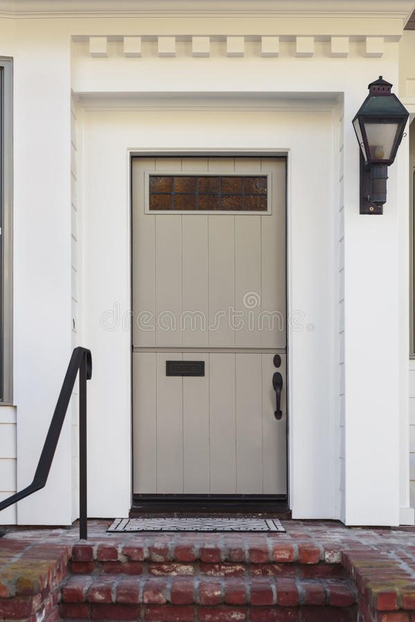Taupe Front Door Of Modern Home Stock Image Image Of Vertical