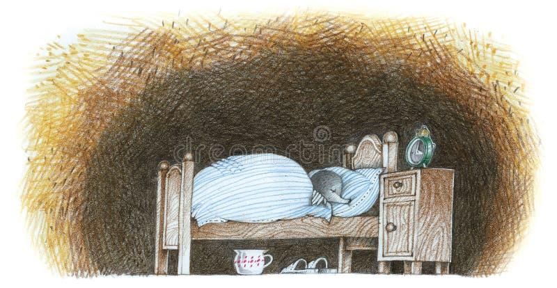Taupe, sommeil d'hiver, humeur images libres de droits