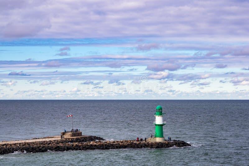 Taupe sur la côte de mer baltique dans Warnemuende, Allemagne photo stock