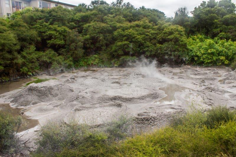Taupo geotermiczny park zdjęcie stock
