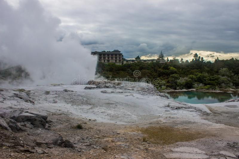 Taupo geotermiczny park obraz stock