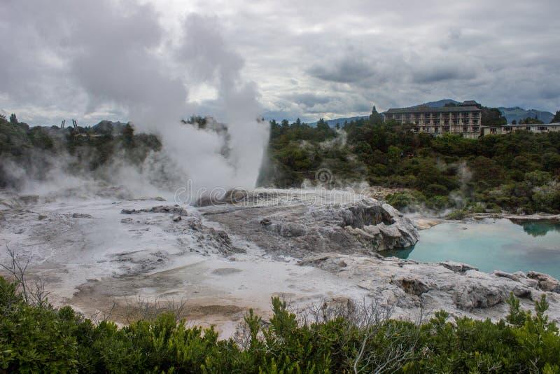 Taupo geotermiczny park zdjęcia stock