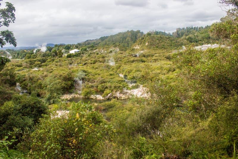 Taupo geotermiczny park obrazy stock
