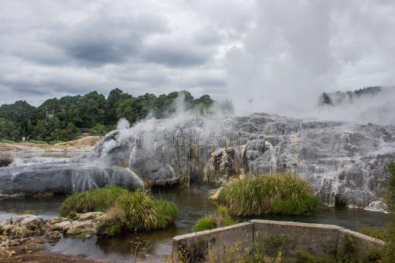 Taupo geothermisch park stock foto
